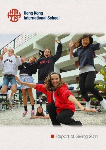 Report of Giving 2011 - DragonNet - Hong Kong International School