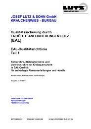 JOSEF LUTZ & SOHN GmbH KRAUCHENWIES - BURGAU ...