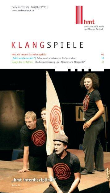Klangspiele 09/2011 - Hochschule für Musik und Theater Rostock