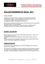 Umlauf & Klein International Gesellschaft für ... - dresses unlimited