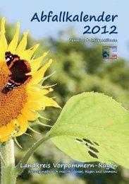 Abfallkalender 2012 - Gemeinde Dranske
