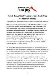 """""""offiziell"""" regionaler Experten-Betrieb für ... - Reindl Bau GmbH"""