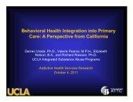 Behavioral Health Integration into Primary Behavioral Health ...