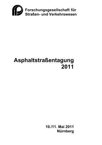 Asphaltstraßentagung 2011 - FGSV