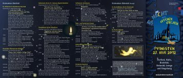 Pfingsten 27. Mai 2012 - Nacht der Offenen Kirchen