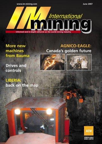 AGNICO-EAGLE: Canada's golden future More new ... - InfoMine