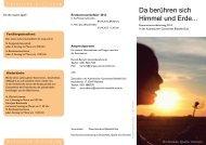 Da berühren sich Himmel und Erde... - Pastoralverbund Bielefeld-Süd