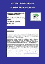 Summerfields Primary School - EduWight - Isle of Wight Council