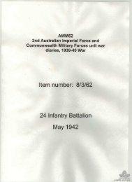 AWM52, 8/3/62/4 - Australian War Memorial