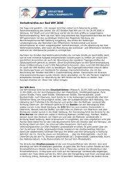 Verkehrsinfos zur Rad WM 2006