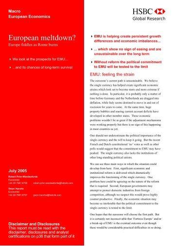 European meltdown?-Europe fiddles as Rome burns