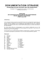 DOKUMENTATION STRASSE Kurzauszüge aus dem ... - FGSV