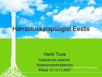 Harrastuskalapüügist Eestis - Keskkonnaministeerium