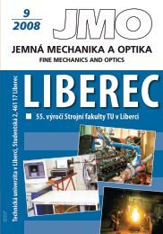 JEMNÁ MECHANIKA A OPTIKA