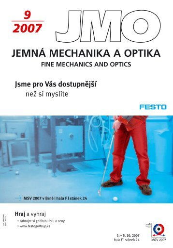 9 2007 jemn mechanika a optika fine mechanics and optics - Jemná ...