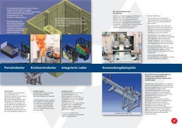 Anwendungsbeispiele Portalroboter Knickarmroboter Integrierte Lader