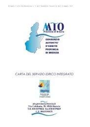 Carta del Servizio Idrico Integrato - Comitato Acqua Benaco