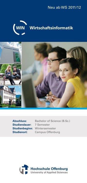 Wirtschaftsinformatik WIN - an der Hochschule Offenburg