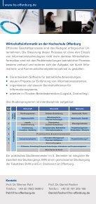 Wirtschaftsinformatik WIN - an der Hochschule Offenburg - Seite 2