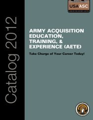 army acquisition education, training, & experience (aete)