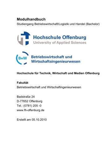 Modulhandbuch - an der Hochschule Offenburg