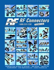 RF Connectors - RF Industries