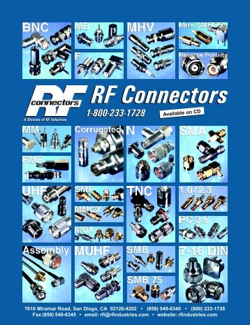 RF Connectors - RF Industries
