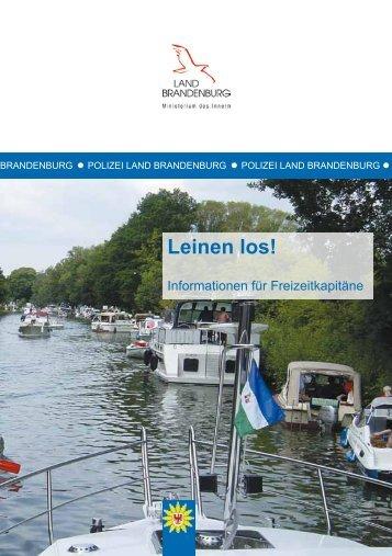 Leinen los! - Polizei Brandenburg - Brandenburg.de
