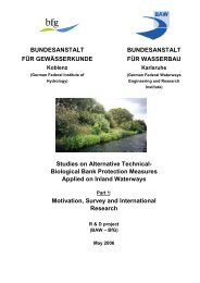 Studies on Alternative Technical- Biological Bank Protection ...