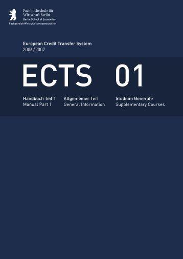 European Credit Transfer System 2006 / 2007 - Hochschule für ...
