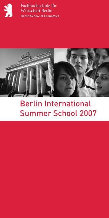 Berlin International Summer School 2007