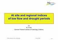 Application: long-term behaviour of low flow parameters - CHR-KHR
