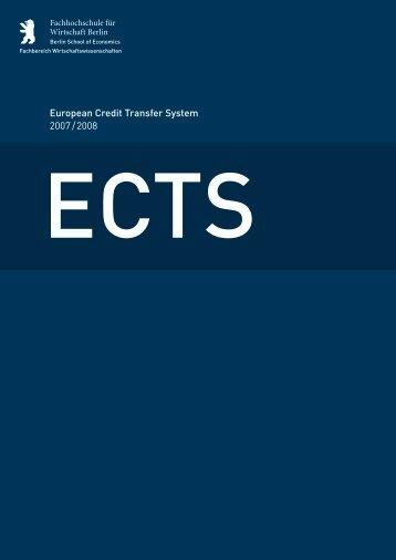 European Credit Transfer System 2007 / 2008
