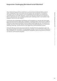 Kooperativer Studiengang Betriebswirtschaft (Bachelor)