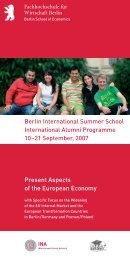 Berlin International Summer School International Alumni ...