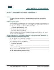 Übung 10.3.5c Subnetzbildung bei einem Netz der Klasse B 1. In ...