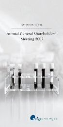 Annual General Shareholders' Meeting 2007 - Epigenomics AG