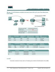 Übung 11.2.3b Einfache erweiterte Access-Listen (ACLs) für eine ...