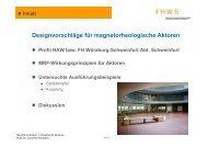 Designvorschläge für magnetorheologische Aktoren