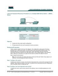 Lab 6.2.8 Password Recovery Procedure on a Catalyst 2950 Series ...