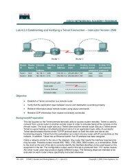 Lab 4.2.2 Establishing and Verifying a Telnet Connection ...