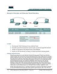 Übung 4.2.2 Einrichten und Prüfen einer Telnet-Verbindung