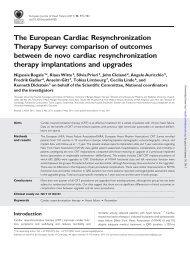 The European Cardiac Resynchronization Therapy Survey ...