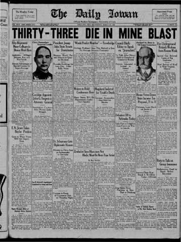 March 18 - The Daily Iowan Historic Newspapers - University of Iowa