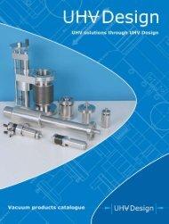 UHV Design Catalogue
