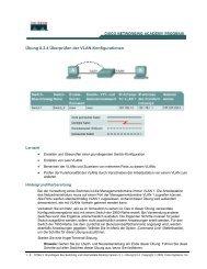 Übung 8.2.4 Überprüfen der VLAN-Konfigurationen