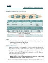Übung 2.3.3 Ändern der OSPF-Kostenmetrik