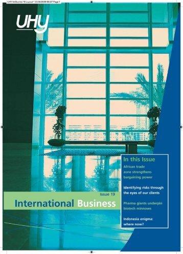 1-International business issue 19 - uhy Khaled Elfakhrani
