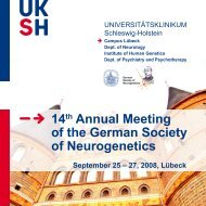 14th Annual Meeting of the German Society of Neurogenetics