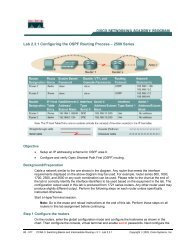 Lab 2.3.1 Configuring the OSPF Routing Process – 2500 Series